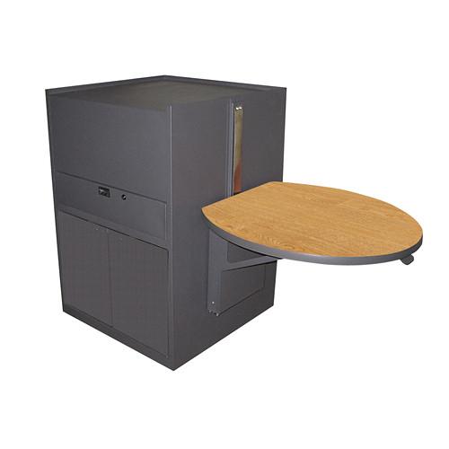 Marvel Vizion Stationary Media Center, Steel Doors and Adjustable Platform (Oak Laminate)