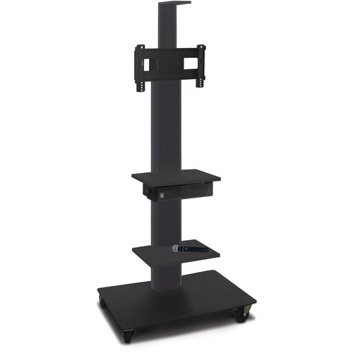 "Marvel 55"" High Mobile Stand w/Sound System for 26-32"" Flat Panel Monitor (Powder Coated, 2 Accessory, 1 Cam Shelf)"