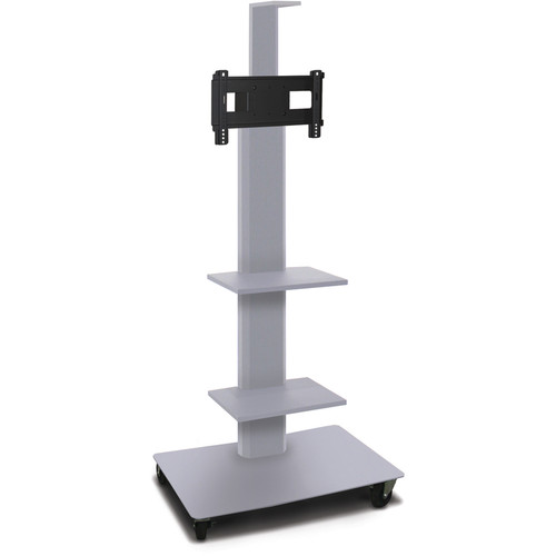 "Marvel 55"" High Mobile Stand for 26-32"" Flat Panel Monitor (Silver, 2 Accessory, 1 Cam Shelf)"