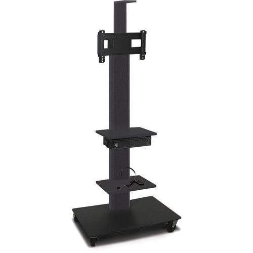 "Marvel 65"" High Mobile Stand w/Sound System for 26-32"" Flat Panel Monitor (Powder Coated, 2 Accessory, 1 Cam Shelf)"