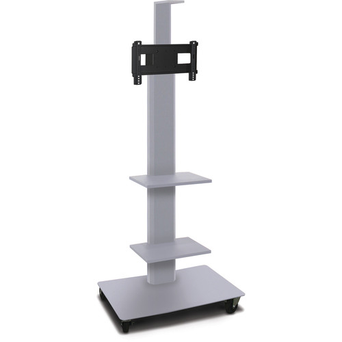 "Marvel 65"" High Mobile Stand for 26-32"" Flat Panel Monitor (Silver, 2 Accessory, 1 Cam Shelf)"