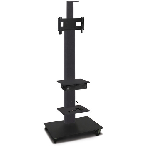 "Marvel 80"" High Mobile Stand w/Sound System for 26-32"" Flat Panel Monitor (Powder Coated, 2 Accessory, 1 Cam Shelf)"