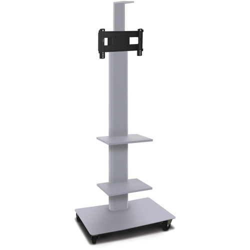 "Marvel 80"" High Mobile Stand for 26-32"" Flat Panel Monitor (Silver, 2 Accessory, 1 Cam Shelf)"