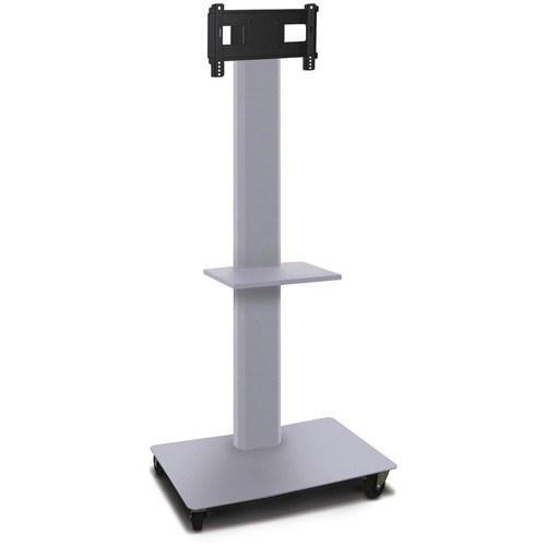 "Marvel 80"" High Mobile Stand for 26-32"" Flat Panel Monitor (Silver, Accessory Shelf)"