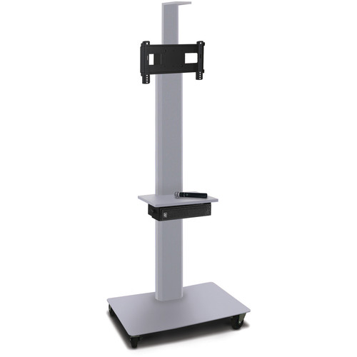 "Marvel 80"" High Mobile Stand w/Sound System for 26-32"" Flat Panel Monitor (Silver, 1 Accessory, 1 Cam Shelf)"