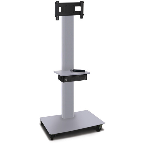 "Marvel 80"" High Mobile Stand w/Sound System for 26-32"" Flat Panel Monitor (Silver, 1 Accessory Shelf)"