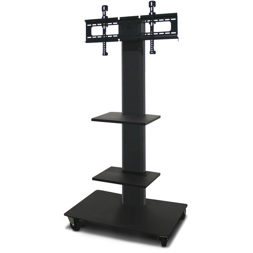 """Marvel 55"""" Vizion TV/Monitor Stand and Mount with Two Fixed Shelves (Charcoal Gray)"""