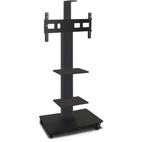 "Marvel 55"" High Mobile Stand for 35-55"" Flat Panel Monitor (Powder Coated, 2 Accessory, 1 Cam Shelf)"