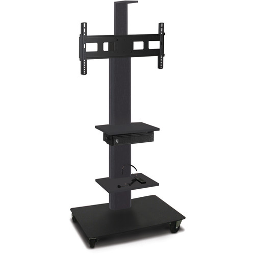 "Marvel 55"" High Mobile Stand w/Sound System for 35-55"" Flat Panel Monitor (Powder Coated, 2 Accessory, 1 Cam Shelf)"