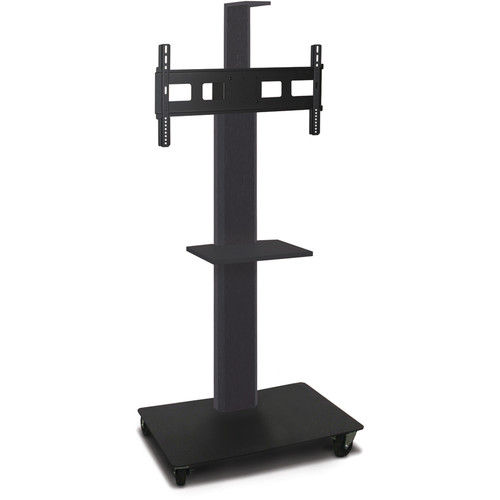 "Marvel 55"" High Mobile Stand for 35-55"" Flat Panel Monitor (Powder Coated, 1 Accessory, 1 Cam Shelf)"