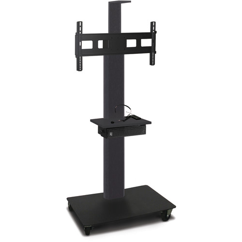"Marvel 55"" High Mobile Stand w/Sound System for 35-55"" Flat Panel Monitor (Powder Coated, 1 Accessory, 1 Cam Shelf)"