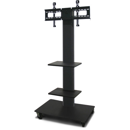 "Marvel 65"" Vizion TV/Monitor Stand and Mount with Two Fixed Shelves (Charcoal Gray)"