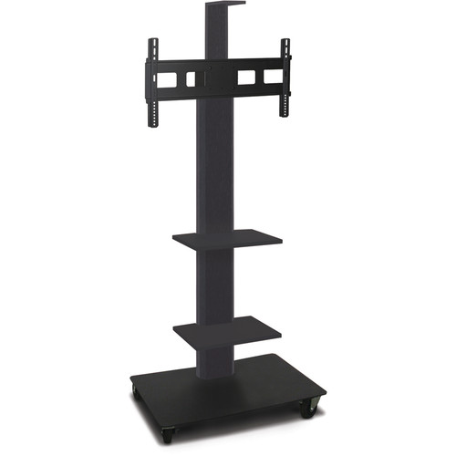 "Marvel 65"" High Mobile Stand for 26-32"" Flat Panel Monitor (Powder Coated, 2 Accessory, 1 Cam Shelf)"