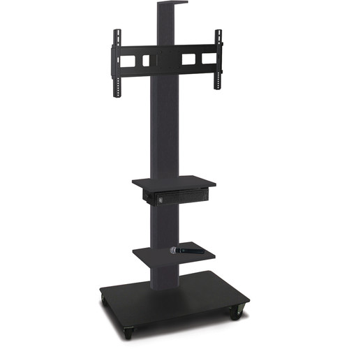 "Marvel 65"" High Mobile Stand w/Sound System for 35-55"" Flat Panel Monitor (Powder Coated, 2 Accessory, 1 Cam Shelf)"
