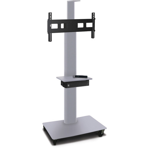 "Marvel 65"" High Mobile Stand w/Sound System for 35-55"" Flat Panel Monitor (Silver, 1 Accessory, 1 Cam Shelf)"