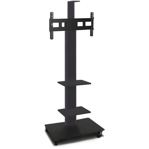 "Marvel 80"" High Mobile Stand for 35-55"" Flat Panel Monitor (Powder Coated, 2 Accessory, 1 Cam Shelf)"