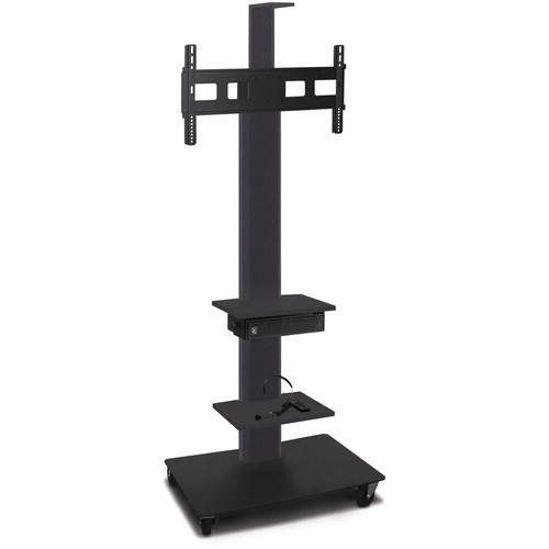"Marvel 80"" High Mobile Stand w/Sound System for 35-55"" Flat Panel Monitor (Powder Coated, 2 Accessory, 1 Cam Shelf)"