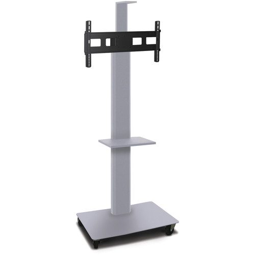 "Marvel 80"" High Mobile Stand for 35-55"" Flat Panel Monitor (Silver, 1 Accessory & 1 Cam Shelf)"