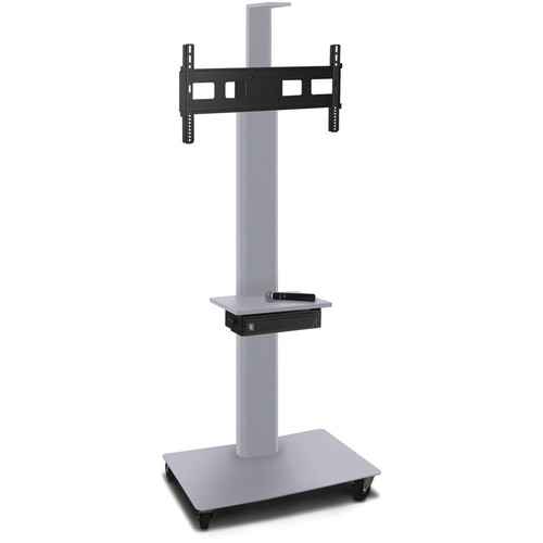 "Marvel 80"" High Mobile Stand w/Sound System for 35-55"" Flat Panel Monitor (Silver, 1 Accessory, 1 Cam Shelf)"