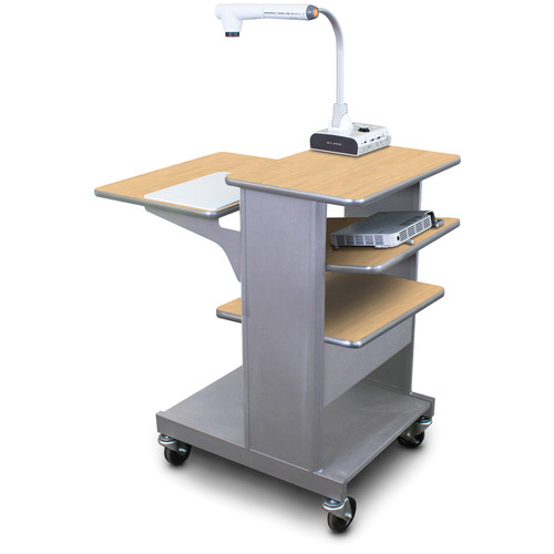 Marvel Vizion Benchmark Mobile Presentation Cart with Tilting Shelf (Kensington Maple Laminate)