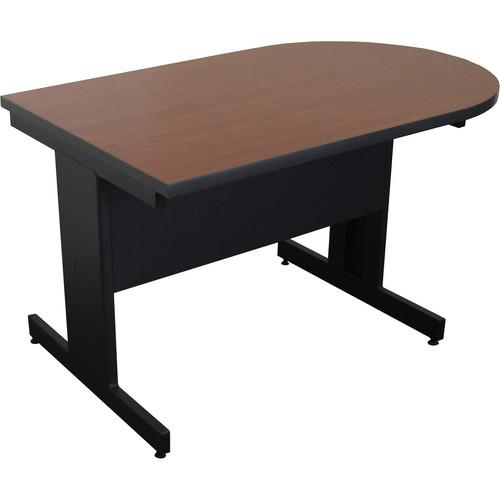 "Marvel Vizion Peninsula Side Table with Modesty Panel (48"", Cherry Laminate)"