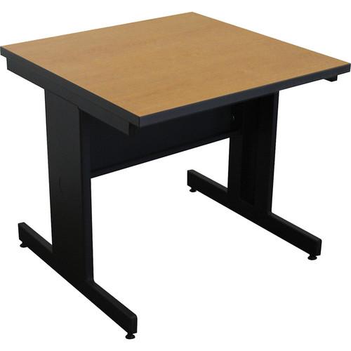"Marvel Vizion Rectangular Side Table with Modesty Panel (36"", Oak Laminate)"