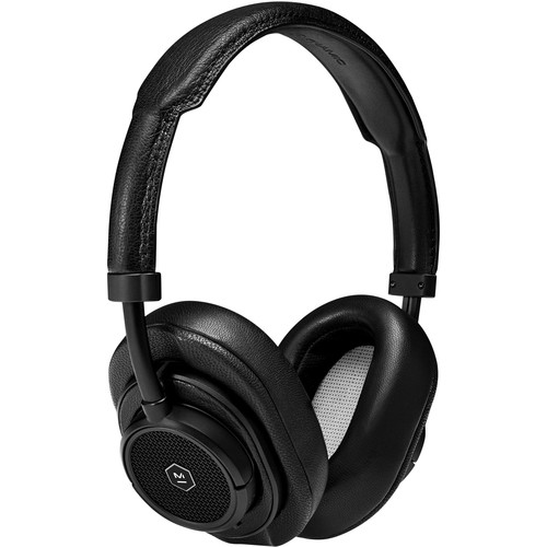 Master & Dynamic MW50+ 2-in-1 Wireless On-Ear / Over-Ear Headphones (Black Leather / Black Metal)