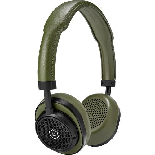 Master & Dynamic MW50 Wireless On-Ear Headphones (Black Metal, Green Leather)