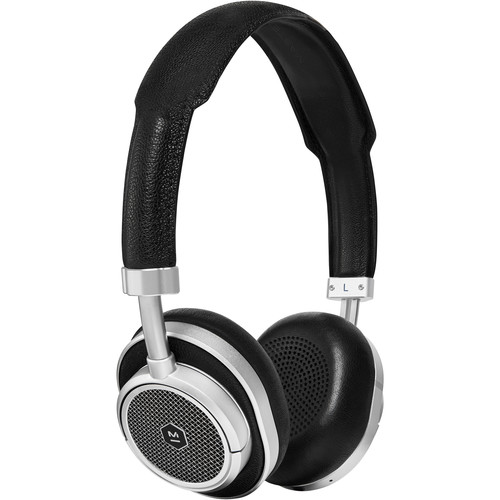 Master & Dynamic MW50 Wireless On-Ear Headphones (Silver Metal, Black Leather)