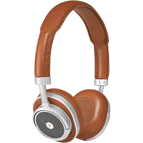 Master & Dynamic MW50 Wireless On-Ear Headphones (Silver Metal, Brown Leather)