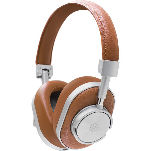 Master & Dynamic MW60S2 Wireless Over-Ear Headphones (Brown and Silver)