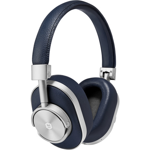 Master & Dynamic MW60 Wireless Over-Ear Headphones (Navy and Silver)