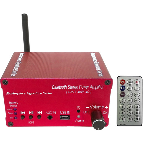 Masterpiece Signature Series MPC-4226B Stereo Receiver with Built-In Battery (Red)