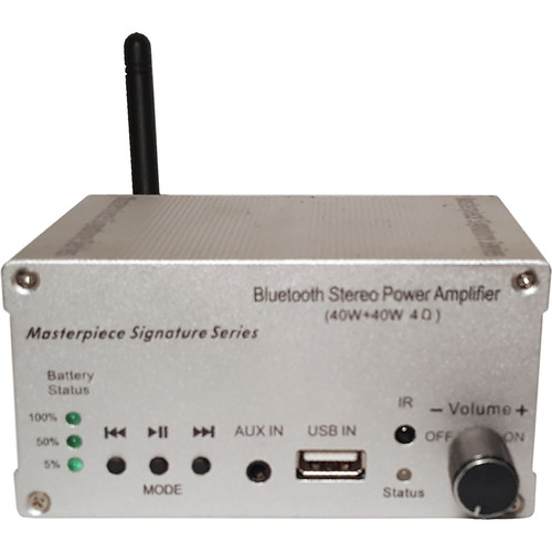 Masterpiece Signature Series MPC-4226B Stereo Receiver with Built-In Battery (Silver)