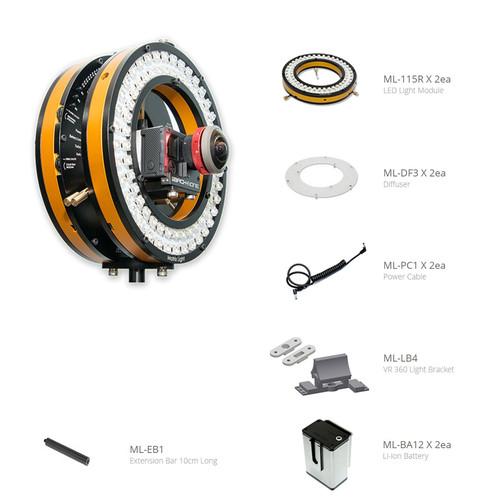 Matrix Light ML-115R LED Light VR360 Camera Kit