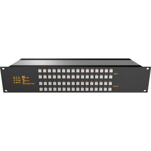 Matrix Switch 8 x 24 2RU 3G/HD/SD-SDI Video Router Switch with Button Control Panel