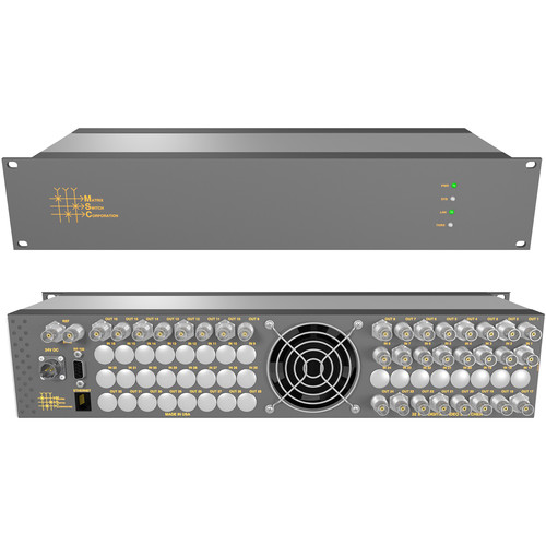 Matrix Switch 8 x 24 3G-SDI Video Router with Status Panel (Aviation)