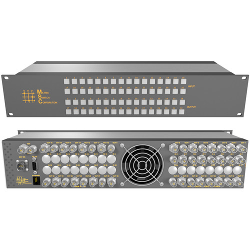 Matrix Switch 8 x 32 3G-SDI Video Router with Button Panel (Aviation)