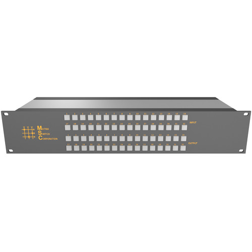 Matrix Switch 16 x 24 3G-SDI Video Router with Button Panel (Aviation)