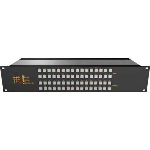 Matrix Switch 24 x 16 2RU 3G/HD/SD-SDI Video Router Switch with Button Control Panel