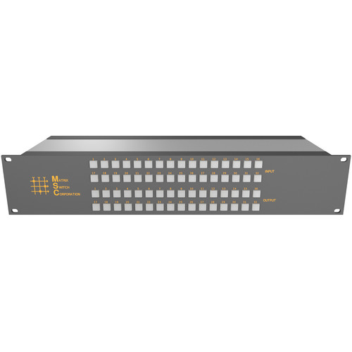 Matrix Switch 32 x 16 3G-SDI Video Router with Button Panel (Aviation)