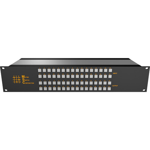 Matrix Switch 32 x 24 2RU 3G/HD/SD-SDI Video Router Switch with Button Control Panel