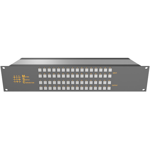 Matrix Switch 32 Input / 32 Output 3G-SDI Video Router with Button Panel (Aviation)