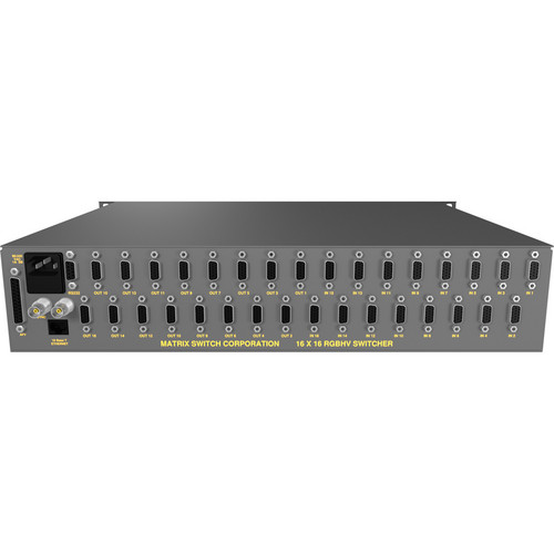 Matrix Switch MSC-5-1616 16 x 16 VGA RGBHV Video Routing Switcher