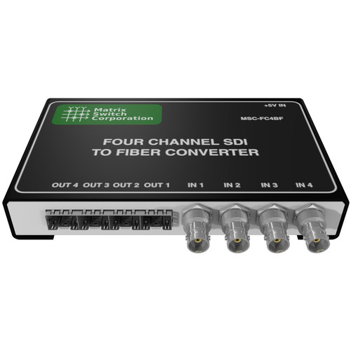 Matrix Switch 4 BNC Input 4 SFP Output 3G-SDI Converter (Fiber Or Other SFP Modules Not Included)