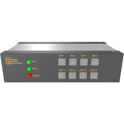 Matrix Switch 4 Input 4 Output 3G-SDI Video Router With Button Panel