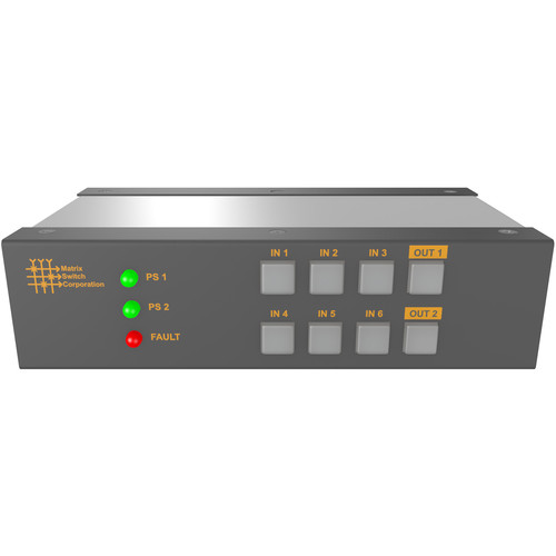 Matrix Switch 6 Input 2 Output 3G-SDI Video Router With Button Panel