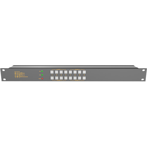 Matrix Switch 4 x 4 12G-SDI Video Router with Button Panel