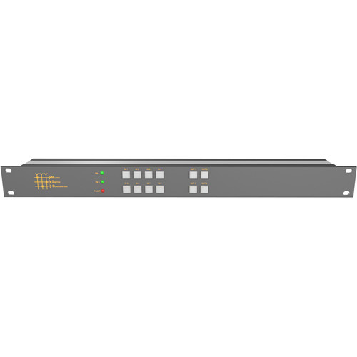 Matrix Switch 8 x 4 12G-SDI Video Router with Button Panel
