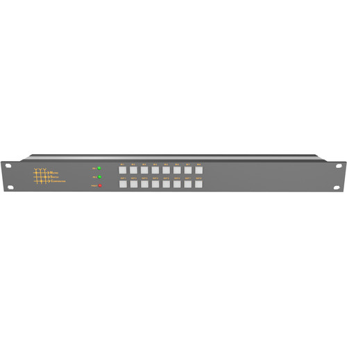 Matrix Switch 8 Input 8 Output 12G-SDI Video Router with Button Panel